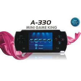 sistema de jogos de video por atacado Desconto Atacado-Dingoo A330 Console Handheld 8 16 32bit 3D Emulador Video Game Player LCD de 2,8 polegadas (preto) suporte DINGUX sistema / dingoo a320
