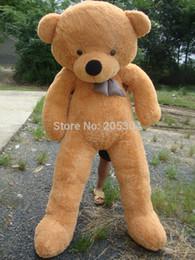 "Wholesale teddy bear lovers big - Wholesale-White TOYS 6 FEET BIG TEDDY BEAR STUFFED 4 Colors GIANT JUMBO 72"" size:180cm Embrace Bear Doll lovers christmas  birthday"