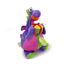 Wholesale Korean Plush Brands - Wholesale-Korean brand stuffed plush toy doll deep purple dibo cartoon doll the gift dragon free shipping