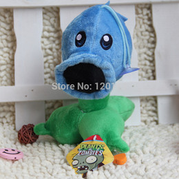 Wholesale Zombies Plush Toys - Wholesale-17CM (Snow Pea) Plants vs zombies doll plush toy Doll Top games Baby Toy for Children Gifts toys Hot sales