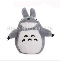 Wholesale Totoro Teddy Bear - Wholesale-20cm Christmas Promotion Japan Anime TOTORO Soft & Stuffed Plush Toys Doll Pillow Cushion Birthday gift