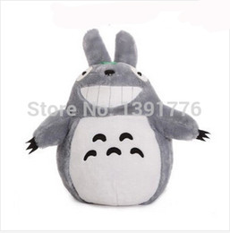 Wholesale Totoro Cushions - Wholesale-20cm Christmas Promotion Japan Anime TOTORO Soft & Stuffed Plush Toys Doll Pillow Cushion Birthday gift
