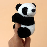 Wholesale Small Bookmark Clips - Wholesale-Mini plush panda doll curtain clip bookmark clip small toy dolls foreign affairs gifts