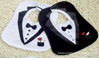 Wholesale Formal Dressing For Baby Boys - Wholesale-Formal dress style new fashion cartoon baby bibs for babies kids boys girls clothes clothing bib wear