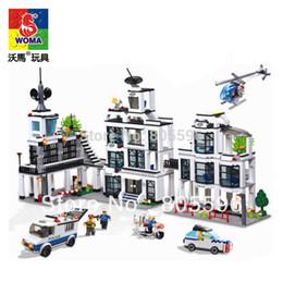 Wholesale Woma Building Bricks - Wholesale-without original box WOMA J9698 Building Block Set 3D Construction Brick Toys Educational Block toy compatible with