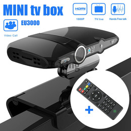 Wholesale Network Tv Box - Wholesale-HD22-L EU3000 5MP Camera Android 4.4 Dual Core HD Smart TV Box Video Phone Network +1GB 8GB Network Android TV Box