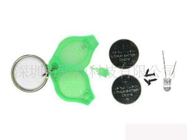 F5 LED-lampa tummen LED-nyckelringar Färgrikt ljus Handtrycks ficklampa 7Colours / We84D
