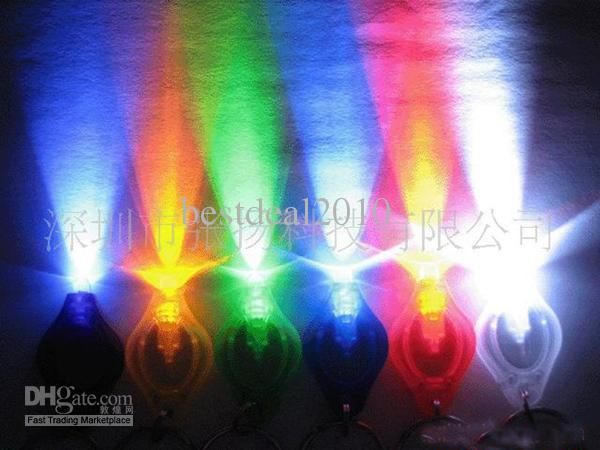F5 LED Bulb Thumb LED Keychains Colorful Light Hand-Pressing Flashlight 7Colours we84d