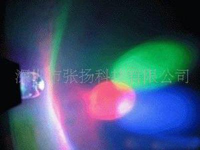 F5 LED Birne Thumb LED Schlüsselanhänger Bunte Licht Hand-Drücken Taschenlampe 7 Farben 2000 teile / los we84d