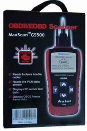 Bmw Obd Ii Scanner Australia - GS 500 Code Reader GS500 New CAN OBD II OBD2 Code Scanner OBD2 Car Diagnostic Tool