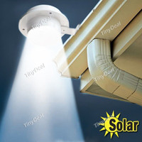 Wholesale Solar Led Home - Wholesale-Super Bright Yard Lamp Solar Panel Garden Light 3 LED Lights Outdoor Home Decor Deft Design Garden Fence Solar Light