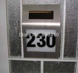 led house number light solar address light solar number sign light free shipping