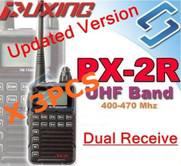 Wholesale Lcd Keypad - Wholesale-3 X Updated version Puxing PX-2R Plus Half dualband dual receive Two Way Radio FM transceiver Keypad LCD for security,hotel,ham