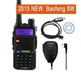 Wholesale Baofeng Radio Mic - Wholesale-8w walkie talkie baofeng UV8HX dual band two way radio,better than baofeng uv 82 UV82 uv-82,+mic+cable