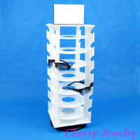 Wholesale Sunglass Holder Rack - Wholesale-Wholesale Plastic Rotating Glasses Sunglass Display Stand Rack Holder For 28 Pairs