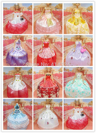 Wholesale Wholesale 18 Inch Doll Accessories - Wholesale-Free shipping 4 clothes + 3 + 3 shoes fashion doll's clothes hangers 18 inches b33 children's toy dolls clothesb34