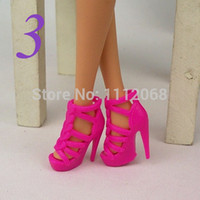 Wholesale Accessories For Shoes - Wholesale-Free Shipping 10 Pairs Dress Shoe Toys Dolls Accessories shoes for dolls shoes doll 1 6 bonecas barbies accessories girls toys