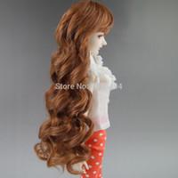 "Wholesale Bjd Wig Brown - Wholesale-BJD WIG Brown wave long Wig Hair For 1 3 24"" 60CM BJD SD DD LUTS Doll Dollfie"