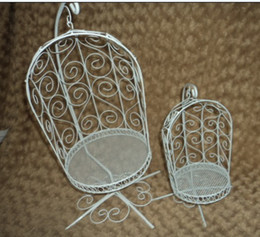 Wholesale Blythe Furniture - Wholesale-1 4 BJD Iron miniature doll furniture basket chair blythe chair
