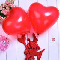 Wholesale Latex Heart Shaped Balloons - 200 Pcs Red Heart Shape Latex Balloon Party Decoration