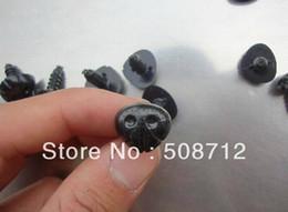 Wholesale Black Dog Nose - Wholesale-fress ship!!!200pcs lot DIY stuffed dog findings 15x13mm Black plastic dog nose  safety eyes with back
