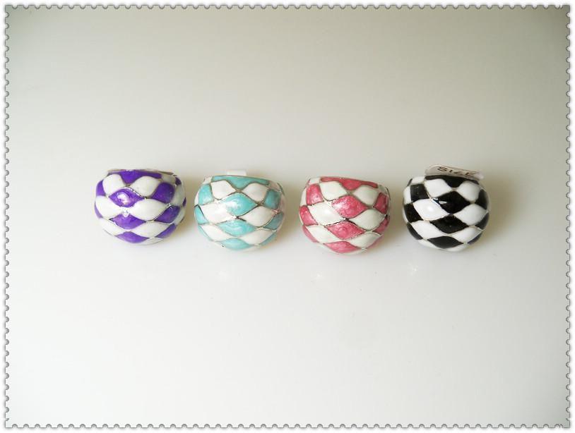 도매 에나멜 유약 반지 패션 합금 반지 여성 의상 반지