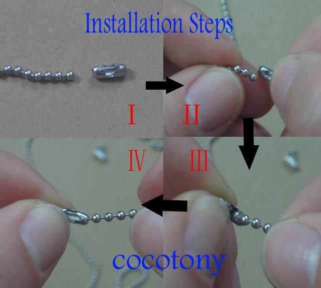 NUEVO 1.0-3.0mm acero inoxidable hebilla de cintura piezas de la cadena de cuentas accesorios collar moldeado 200 unids