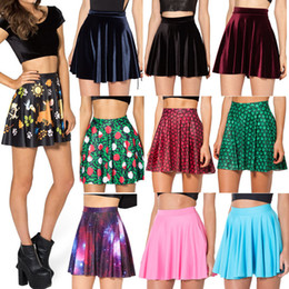 Wholesale Hot Women Milk - Wholesale-Hot Sale New 2015 Sexy Women Summer Skirts Black Milk Skater Skirt Hakuna Matata High Waist Skirt For Women Free Shipping