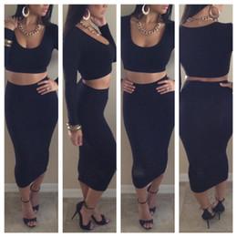 Discount High Waisted Black Pencil Skirt | 2017 High Waisted Black ...