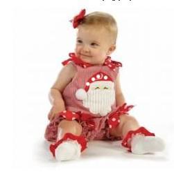 Wholesale Doomagic Christmas - Wholesale-Doomagic baby Romper new year Christmas X'mas Santa Claus bowknot romper infant clothes 4pcs lot free shipping