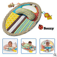 Wholesale Crawling Blanket Music - Wholesale-2015 New Arrival Hot sleeping bed Baby play mat music Game height frame crawling baby fitness educational Cushion Blanket