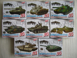 Wholesale Building Plastic - Wholesale-1:72 Model Tank Assembly Toy 8pcs per Set , tank kit T72 ,T-55, JSU-152,M-42,M1A2,98 tanks