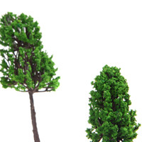 Wholesale Z Scale Wholesale - Wholesale-16pcs HO Z Scale Model Trees for Railroad House Park Street Layout X-100 Green