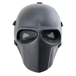 free full face helmets Canada - Wholesale-Army of Two Mask Fibreglass  Paintball Helmet (Black) Face mask Funny Halloween Mask Free shipping