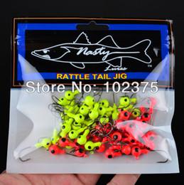 Wholesale Round Head Jigs - Wholesale-New best price Jig Big Hook Eye 100pcs 5G Fishing hook Mini LEAD ROUND HEAD FISHING LURE JIGS HOOKS free shipping