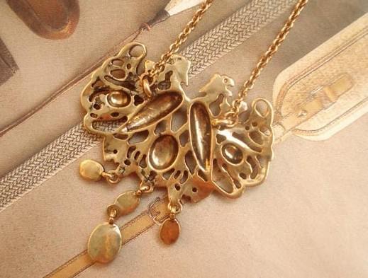 HOT Vintage Personnalité Forme Paon Chandail Chaîne Gemstone Long Collier / De Mode Femmes /