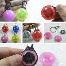 Wholesale Pendant Lights Products - Wholesale-L109Pet Puppy LED Flashing Safety Night Light Dog Circular Blinker Pendant