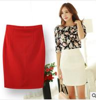 Wholesale Tight Mini Orange Skirt - Wholesale-Midi Skirt 2015 Skirts Womens Spring Summer Long Tight Pencil Skirt Lady's High Waist Short Career Mini Skirt Saias
