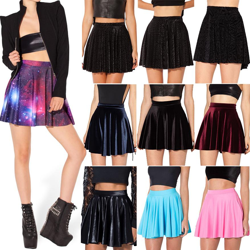 df52f82eb 2019 Wholesale 2015 Women Skater Skirts Black Milk Galaxy Purple Skater  Skirt Female Galaxy Pleated Skirt For Women S M L XL From Goodly3128, ...