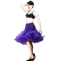 Wholesale White Pettiskirt Women - Wholesale-New 2015 Women Soft Fabric 65cm Long Sexy Pleated Chiffon Petticoat Rockabilly Pettiskirt Tulle Tutu Skirt Slip19 Colors