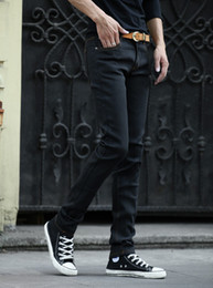 Wholesale Pants Men Summer Thin - Wholesale-Summer men's jeans skinny pants spring elastic thin cylinder's leisure pants.