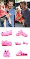 Wholesale Girls Kitten Shoes - Wholesale- High quality brand Children's fashion sandals mini melissa shoes Kitten Jelly sandals for Girls Suit for Summer