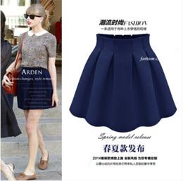 Wholesale Basic Short Skirt Bust - Wholesale-2015 spring and summer high waist pleated skirt fluffy short skirt female bust chiffon skirt plus size basic skirt duanqun