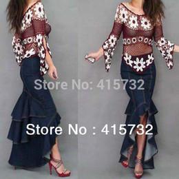 Plus Size Denim Maxi Skirt Online Wholesale Distributors, Plus ...