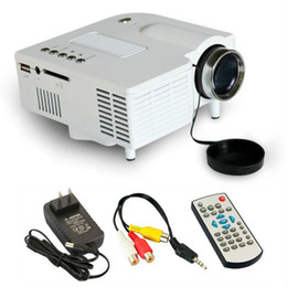 Wholesale Led Projectors For Home Theater - Wholesale-Hot sale LED Mini Portable pocket video Projector for Home Theater with HDMI  AV VGA SD USB pico video projector Full HD
