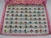 Wholesale Wholesale Fancy Gift Boxes - Wholesale 144pc Fashion Popular cartoon Fancy Ring in Box New