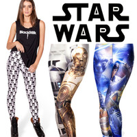 Wholesale Silver Leggings For Women - Wholesale-Black Milk Leggings Women Legging Pants Black Milk Star Wars Leggings for Women S M L XL Plus Size Star Wars Printed Leggings