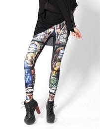 Wholesale Women Sexy Milk - Wholesale-HOT! SEXY! 2015 leggings for women junior leggings Milk Leggings CATHEDRAL LEGGINGS Digital Print Pants OEM