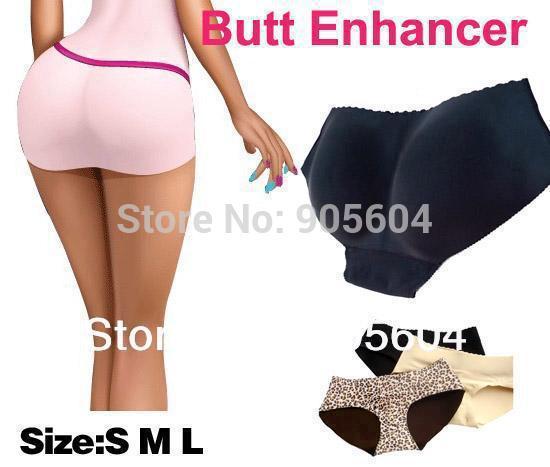 Vendita all'ingrosso-Hot! SEXY delle donne imbottite mutandine mutandine Butt Enhancer Hip Shaper Bum pastiglie pad biancheria intima ascensore shapewear