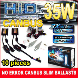 Wholesale Kit Xenon Usa - NEW 10PCS USA UK!!! 35W CANBUS ULTRA SLIM BALLASTS HID CONVERSION XENON KITS H1 H4 H7 NO ERROR ODC